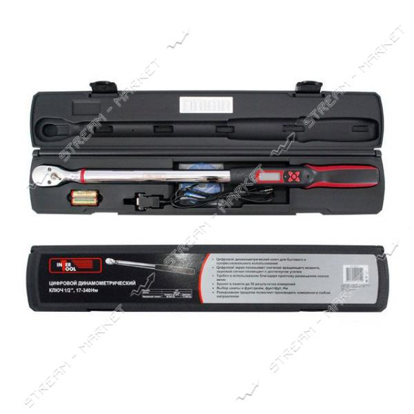 Динамометрический ключ INTERTOOL XT-9021 электронный 1/2' 68-340 N.m