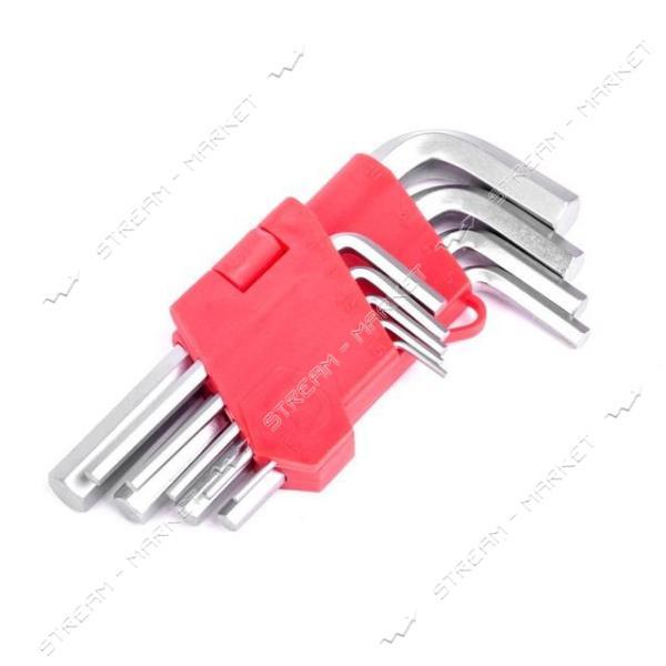 Набор Г-образныхшести-ых ключей INTERTOOL HT-0601 9шт., 1.5-10мм, Cr-V