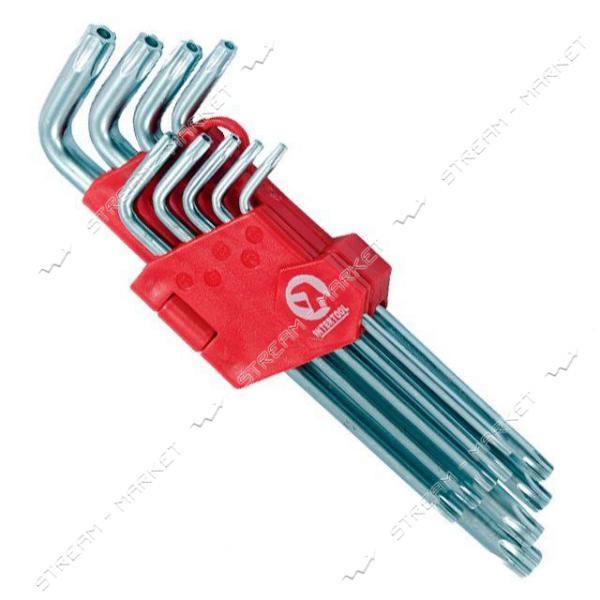 Набор Г-образных ключей INTERTOOL HT-0606 TORX с отверстием 9шт, Т10-Т50, Cr-V, Big
