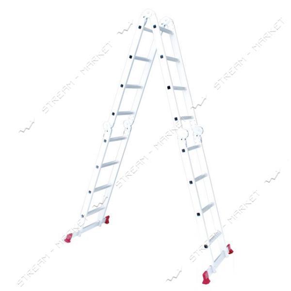 Лестница INTERTOOL LT-0029 алюминиевая мультифункциональная трансформер 4*4ступ. 4.75м