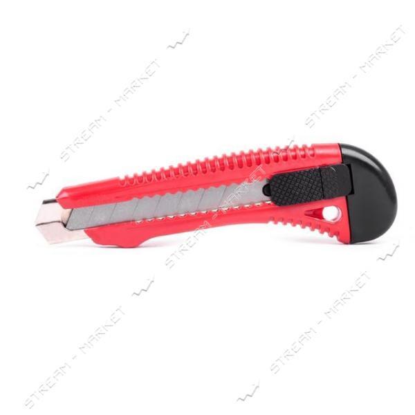 Нож прорезной INTERTOOL HT-0501 усиленный с отломным лезвием - 18мм