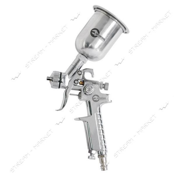 Краскораспылитель INTERTOOL PT-0306 HP STEEL MINI PROF 0.5мм, верх.метал.бачок125мл.