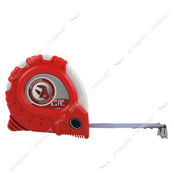 Рулетка INTERTOOL MT-0305 Супер Магнит 19мм 5м