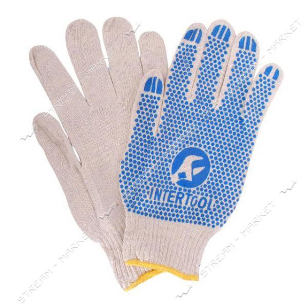Перчатка защитная INTERTOOL SP-0134 трикотажная с ПВХ покрытием