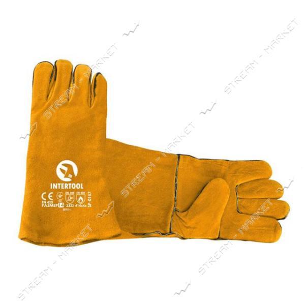 Перчатка INTERTOOL SP-0157 замшевая 14' (желтая)