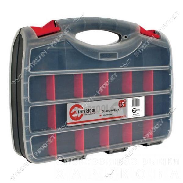 INTERTOOL BX-4005 Органайзер 15', 2 в 1, 380*290*80мм - Ящики, сумки инструментальные на рынке Барабашова
