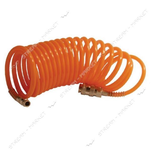 INTERTOOL PT-1704 Шланг спиральный с быстроразъемным соединением 10м