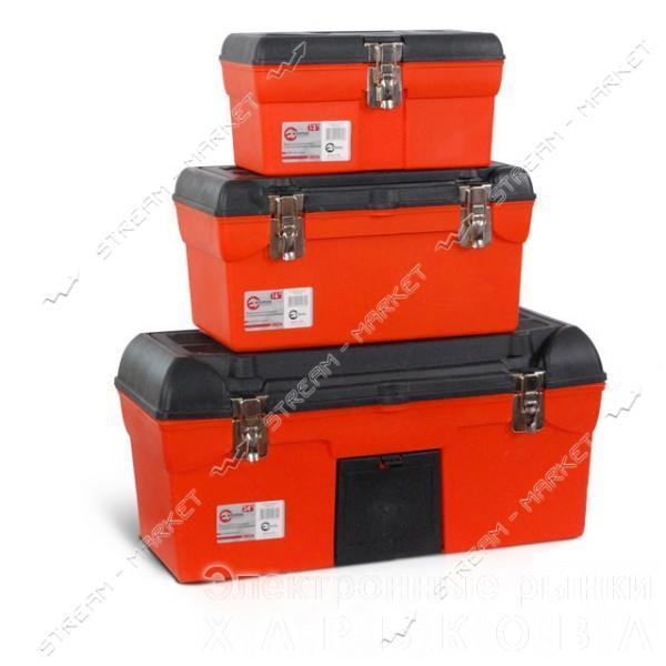 INTERTOOL BX-0007 Комплект ящиков для инструмента с метал.замком 3 шт. (13', 16.5', 23.5' дюймов) - Ящики, сумки инструментальные на рынке Барабашова