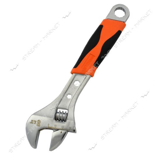 Разводной ключ LT 01-300 300мм двухкомпонентная ручка