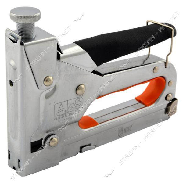Степлер профессиональный LТ 500-001 4-14мм с регулятором хромированый