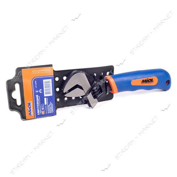 Miol 54-032 Ключ разводной 200 мм (0-24мм) двухкомпонентная рукоятка