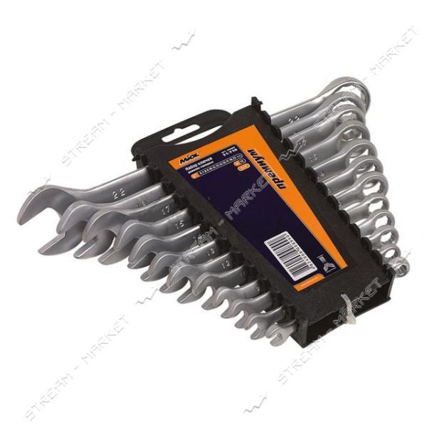 Miol 51-705 Набор ключей рожково-накидных CRV сатин. 8 шт.(8-19 мм) Premium