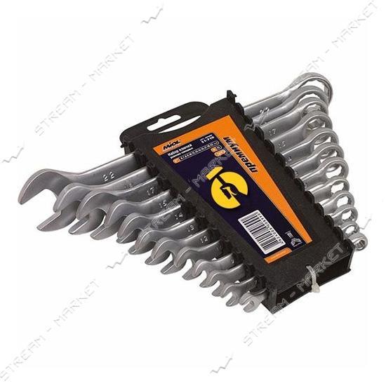 Miol 51-713 Набор ключей рожково-накидных CRV сатин 15 шт.(6-22 мм) Premium
