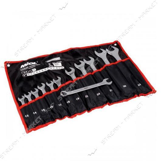 Miol 51-716 Набор ключей рожково-накидных CRV сатин 17 шт.(6-24 мм) Premium