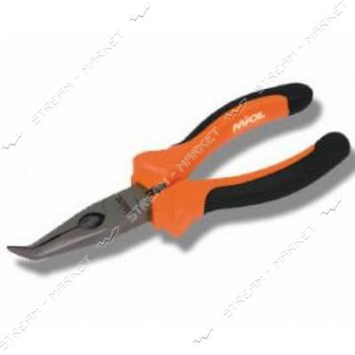 Miol 40-025 Плоскогубцы удлиненные, загнутые с комбинированой рукояткой 160 мм. Premium
