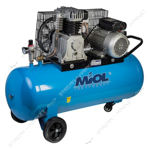 Miol 81-194 Компрессор масляный с клинорем.передачей Тайфун 600 -100, 220V