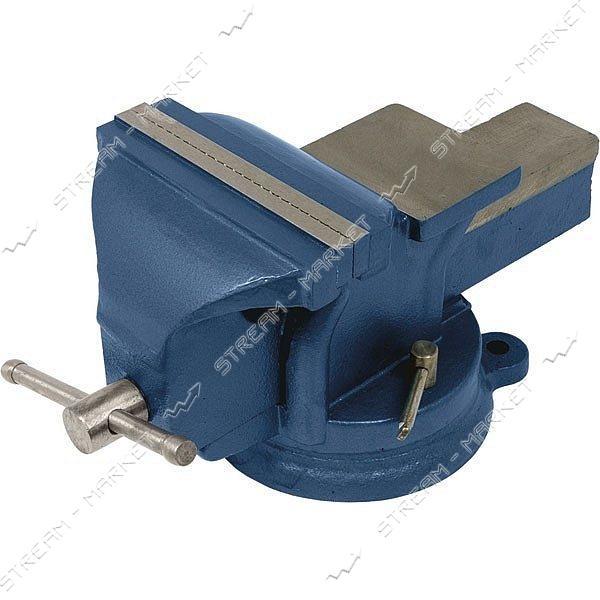Miol 36-500 Тиски слесарные поворотные синие 200 мм
