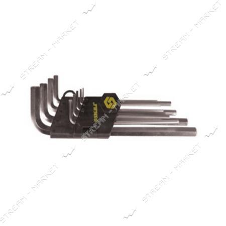 SIGMA 708004 (402211) ключи 6-гранные 9шт 1.5-10мм CrV короткие (шар)
