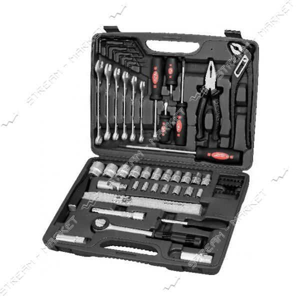 SIGMA 704059 Набор инструментов, ключей, насадок торцевых и биты 1/4, 1/12, 59 шт. CrV
