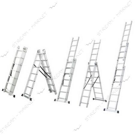 SIGMA 511012 лестница раскладывающаяся универсальная 12 ступ. 7, 9м.