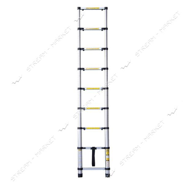 SIGMA 513008 лестница телескопическая 8 ступенек 2.6м