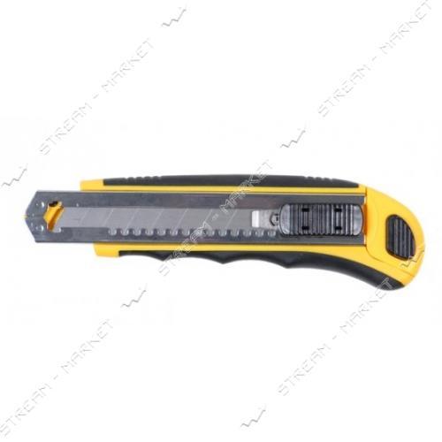 SIGMA 8211121 (580188)нож с отламыващимся лезвием 18мм 8 лезвий
