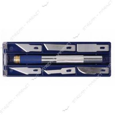 SIGMA 8214011 (580006) ножи моделярские 6шт держатель