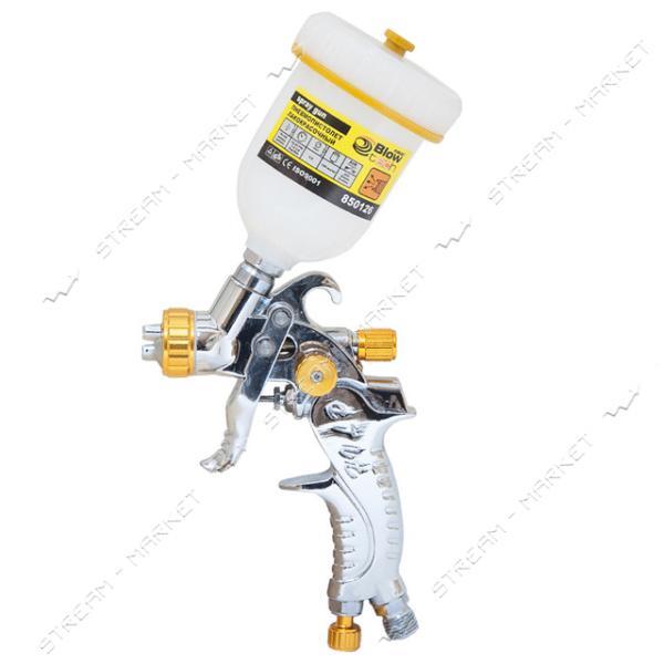 SIGMA 6812012 (850126) пневмопистолет лакокрас. HVLP O0.8мм с в/б (пласт)