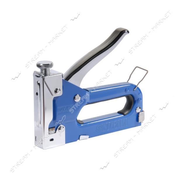 SIGMA 2821011 (900905) степлер с регулятором для скоб 4-14мм (синий)