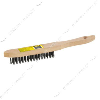 SIGMA 9011141 (901114) щетка проволочная деревянная 4-х рядная