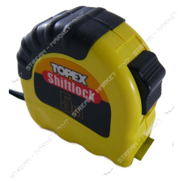 TOPEX Рулетка Shiftlock 5 м