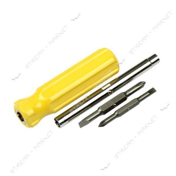 Отвертка четырёхсторонняя пластмассовая ручка