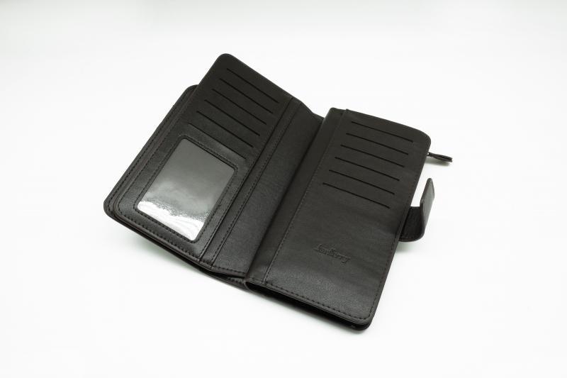 Фото  Мужской клатч портмоне Baellerry Business Черный, коричневый