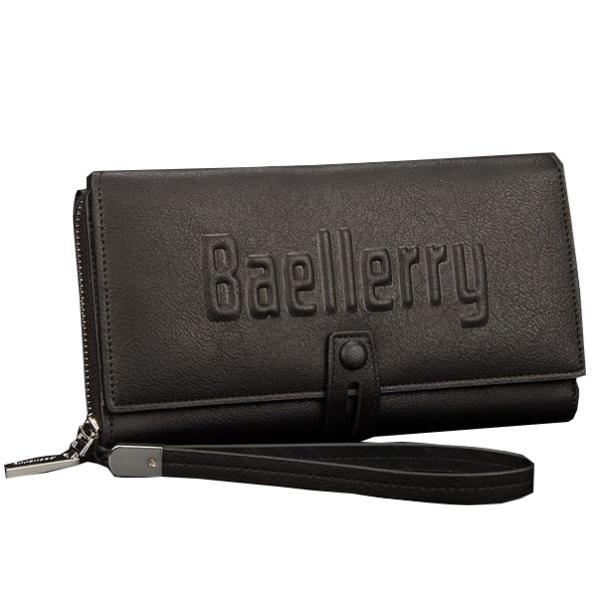 Мужской клатч портмоне Baellerry Guero Черный, коричневый