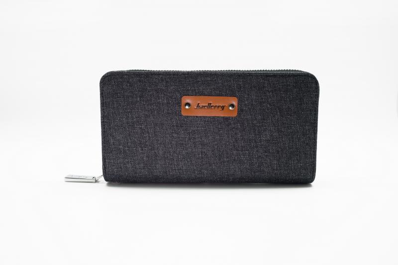 Мужской клатч портмоне Baellerry Textile Черный, коричневый, синий