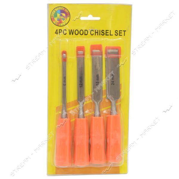 Набор стамесок ударных оранжевая ручка (6, 12, 18, 24 мм)