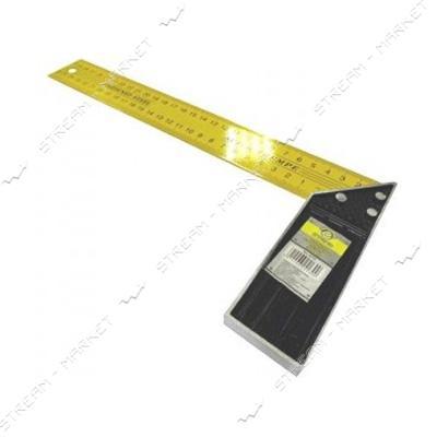 Угольник строительный металлический (желтый) 500 мм