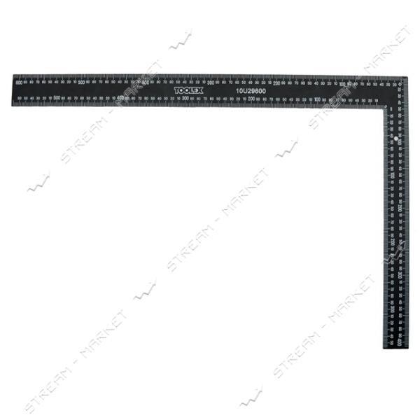 Угольник строительный металлический (черный) 600*400 мм