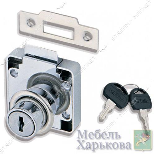 Замок мебельный 338 врезной с защелкой - Мебельные замки и магниты в Харькове