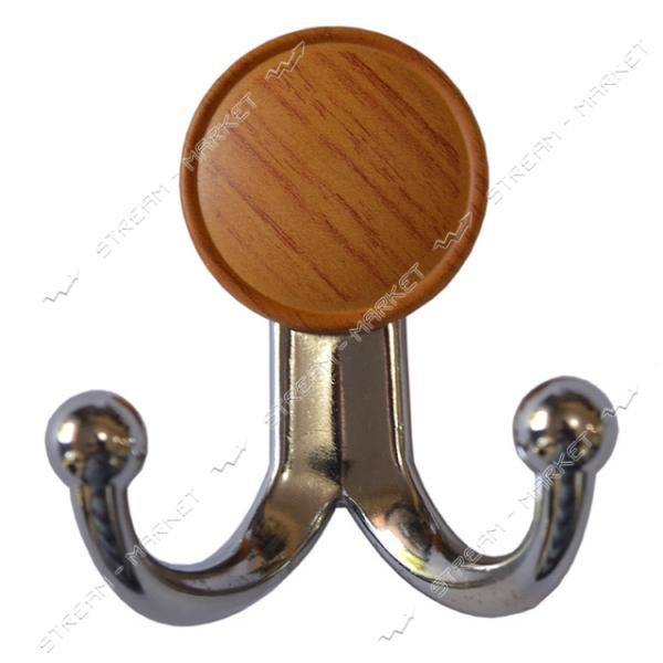 Крючок мебельный 13.134 PLS BONCUK хром-дуб