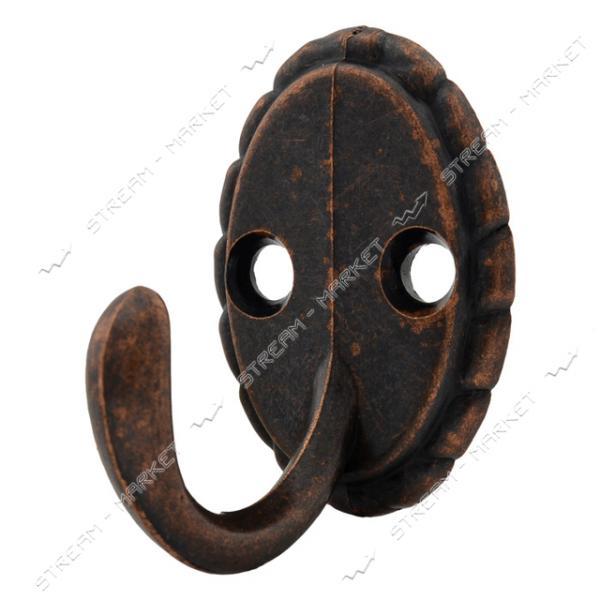 Крючок мебельный Ретро коричневый Miradel