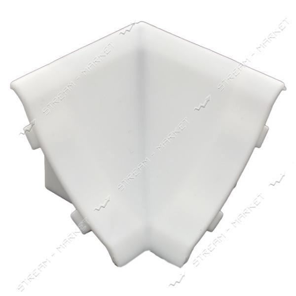 Уголок для плинтуса внутренний стыковочный белый