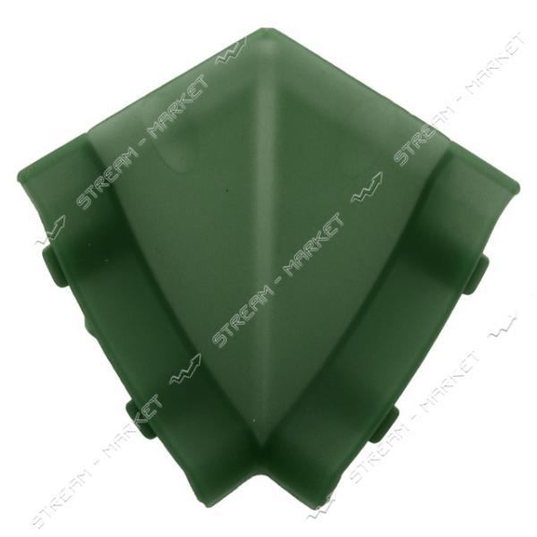 Уголок для плинтуса внутренний стыковочный зеленый