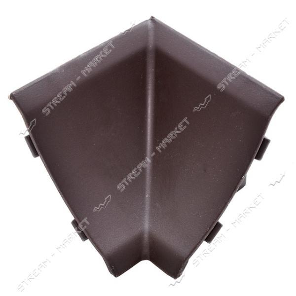 Уголок для плинтуса внутренний стыковочный коричневый