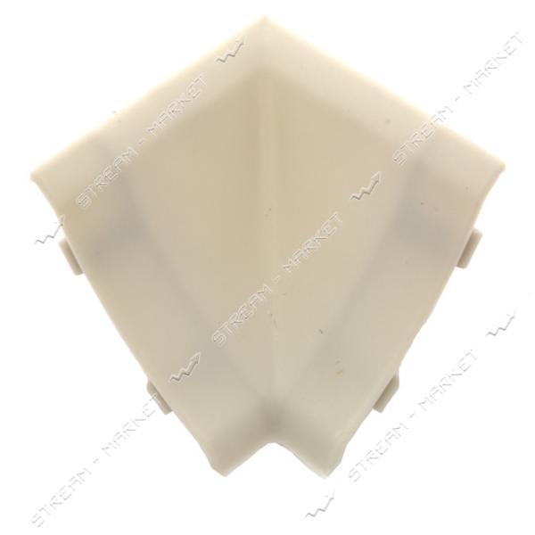 Уголок для плинтуса внутренний стыковочный светло-серый