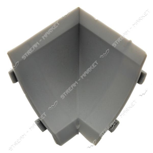 Уголок для плинтуса внутренний стыковочный серый
