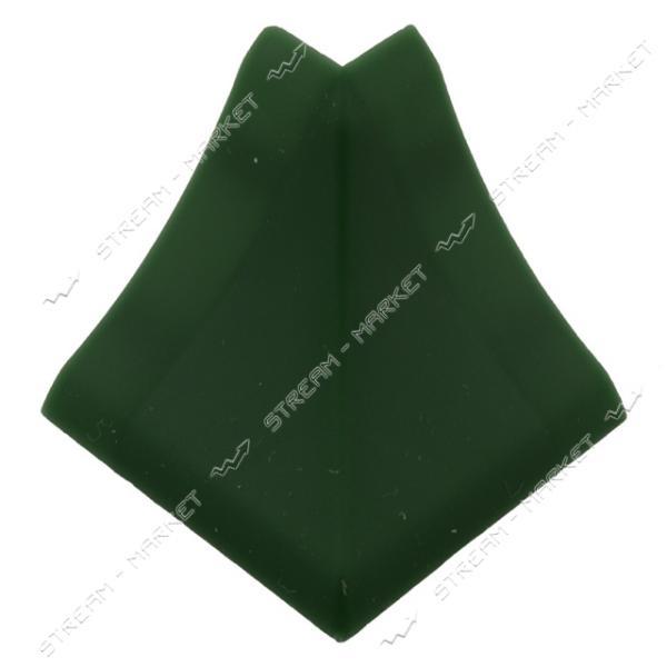 Уголок для плинтуса наружный стыковочный зеленый