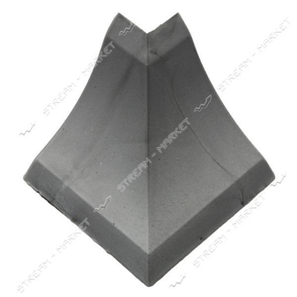 Уголок для плинтуса наружный стыковочный металлик