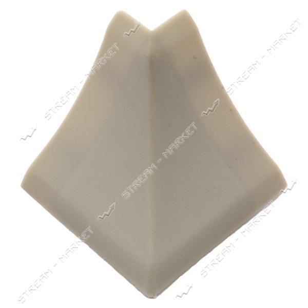 Уголок для плинтуса наружный стыковочный светло-серый