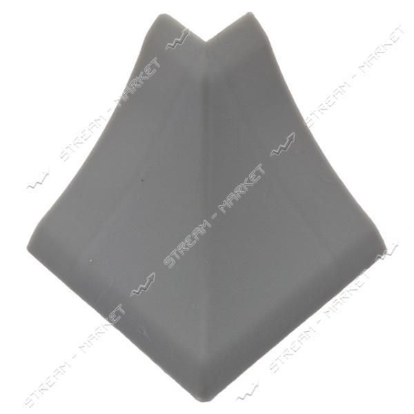 Уголок для плинтуса наружный стыковочный серый